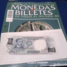 Lotes de Billetes: FASCICULO Nº 93 ( FILIPINAS ) MONEDAS Y BILLETES DE TODO EL MUNDO PLANETA DE AGOSTINI. Lote 184885240