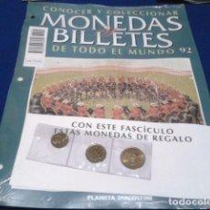 Lotes de Billetes: FASCICULO Nº 92 ( MACAO ) MONEDAS Y BILLETES DE TODO EL MUNDO PLANETA DE AGOSTINI CON SEPARADORES. Lote 184885418
