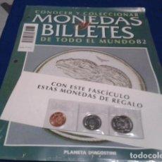 Lotes de Billetes: FASCICULO Nº 82 ( NUEVA ZELANDA ) MONEDAS Y BILLETES DE TODO EL MUNDO PLANETA DE AGOSTINI. Lote 185744525