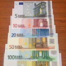 Lotes de Billetes: 5 - 10 - 20 - 50 - 100 - 200 - 500 EUROS SC UNC SERIE V FIRMA DUISENBERG. Lote 192103708