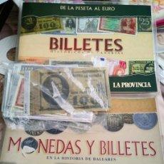 Lotes de Billetes: LOTE 88 BILLETES MÁS DOS ÁLBUMES BILLETES HISTÓRICOS DE MALLORCA Y DE CANARIAS. Lote 194127211