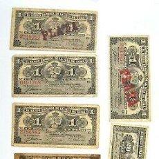 Lotes de Billetes: BONITO LOTE DE BILLETES DEL BANCO ESPAÑOL EN LA ISLA DE CUBA. CERTIFICADO DE PLATA. Lote 195594827