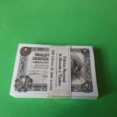 Lotes de Billetes: FAJO BILLETES I00965001/00965595 ESPAÑA 19 NOVIEMBRE 1951 UNA PESETA PLANCHA EL QUIJOTE MANCHA. Lote 198218076