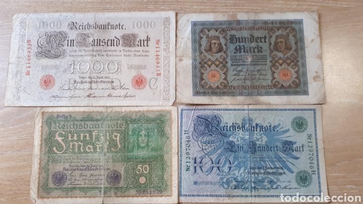 BILLETES ALEMANES USADOS ALGUNO 1908 Y 1910 (Numismática - Notafilia - Series y Lotes)