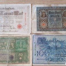Lotes de Billetes: BILLETES ALEMANES USADOS ALGUNO 1908 Y 1910. Lote 199818730
