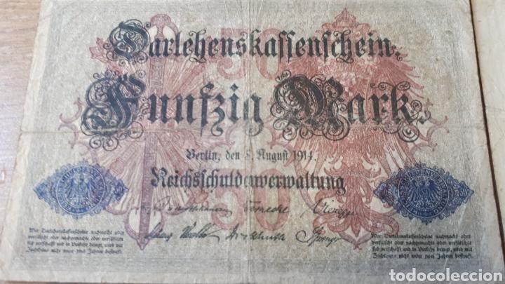 Lotes de Billetes: 4 BILLETES ALEMANIA ENTRE 1910 Y 1920 USADOS VER ESTADO EN FOTOGRAFIAS - Foto 2 - 199819282