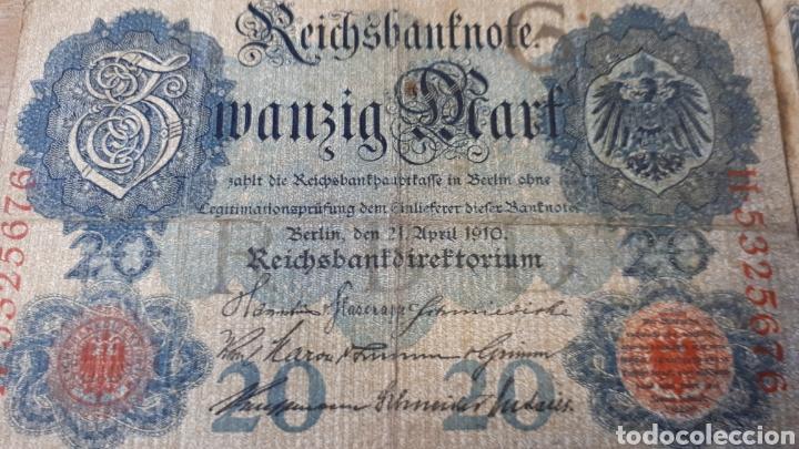 Lotes de Billetes: 4 BILLETES ALEMANIA ENTRE 1910 Y 1920 USADOS VER ESTADO EN FOTOGRAFIAS - Foto 3 - 199819282
