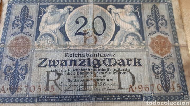 Lotes de Billetes: 4 BILLETES ALEMANIA ENTRE 1910 Y 1920 USADOS VER ESTADO EN FOTOGRAFIAS - Foto 5 - 199819282