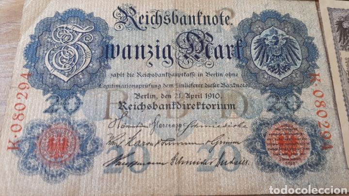Lotes de Billetes: 3 BILLETES DE ALEMANIA USADOS ENTRE 1910 Y 1917 VER ESTADO EN FOTOGRAFIAS - Foto 3 - 199819781