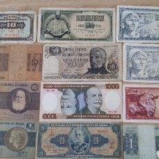 Lotes de Billetes: 12 BILLETES MUY USADOS DE BRASIL YOGOSLAVIA Y ARGENTINA H02. Lote 200192983