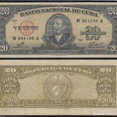 Lots de Billets: CUBA 20 1960 PESOS BILLETE BANKNOTE CIRCULADO. Lote 204052571