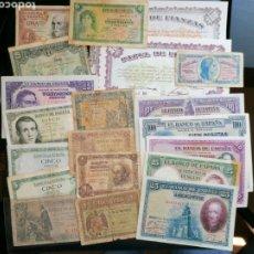 Lotes de Billetes: COLECCION BILLETES ESPAÑA LOTE BILLETES 21 TODAS LAS ÉPOCAS MIRA LAS FOTOS. Lote 204983652