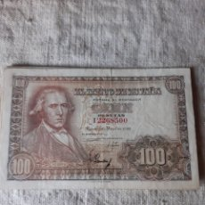 Lotes de Billetes: LOTE 9 BILLETES ESPAÑA 100 PESETAS MAYO 1948 SIN SERIE Y SERIES A B C D F G H I VER FOTOS 9 BILLETES. Lote 205594708