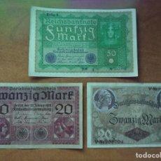Lotes de Billetes: LOTE 3 BILLETES ALEMANES ANTERIORES A 1920. Lote 205739232
