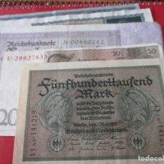 Lotes de Billetes: LOTE DE 5 BILLETES ALEMANES. ENTRE 1902 Y 1923 DIFERENTES. Lote 205800778