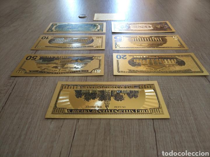 Lotes de Billetes: Lote Colección DÓLARES en ORO puro 99,9% 24. con Certificado de Autenticidad - Foto 2 - 207195960