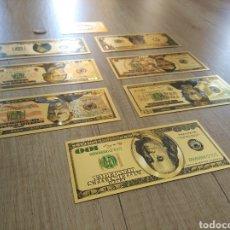 Lotes de Billetes: LOTE COLECCIÓN DÓLARES EN ORO PURO 99,9% 24. CON CERTIFICADO DE AUTENTICIDAD. Lote 207195960