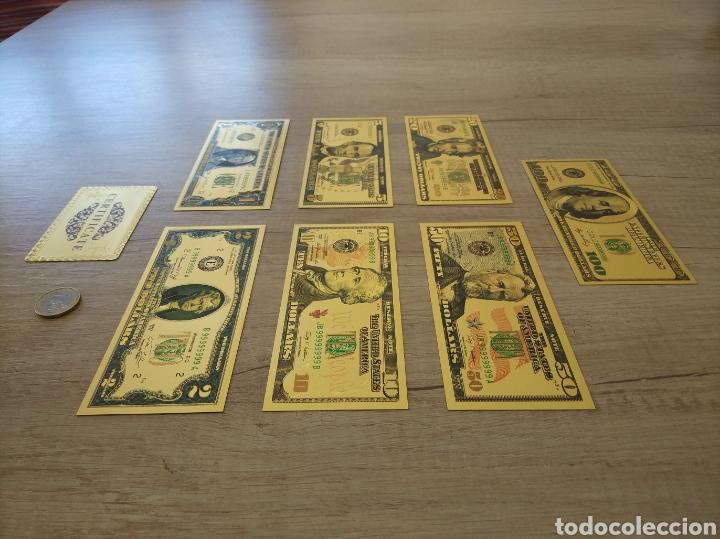 Lotes de Billetes: Lote Colección DÓLARES en ORO puro 99,9% 24. con Certificado de Autenticidad - Foto 3 - 207195960
