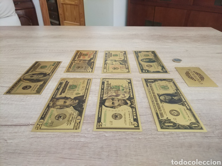 Lotes de Billetes: Lote Colección DÓLARES en ORO puro 99,9% 24. con Certificado de Autenticidad - Foto 4 - 207195960