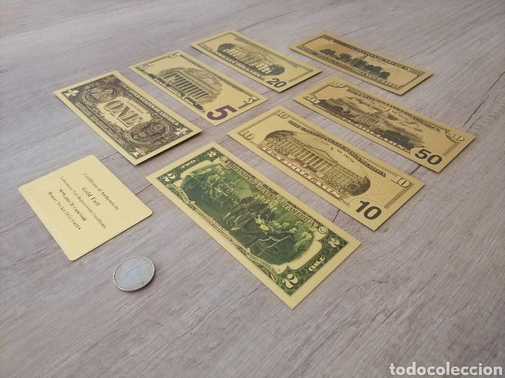 Lotes de Billetes: Lote Colección DÓLARES en ORO puro 99,9% 24. con Certificado de Autenticidad - Foto 5 - 207195960