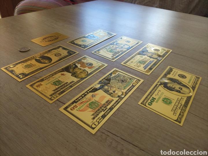 Lotes de Billetes: Lote Colección DÓLARES en ORO puro 99,9% 24. con Certificado de Autenticidad - Foto 7 - 207195960