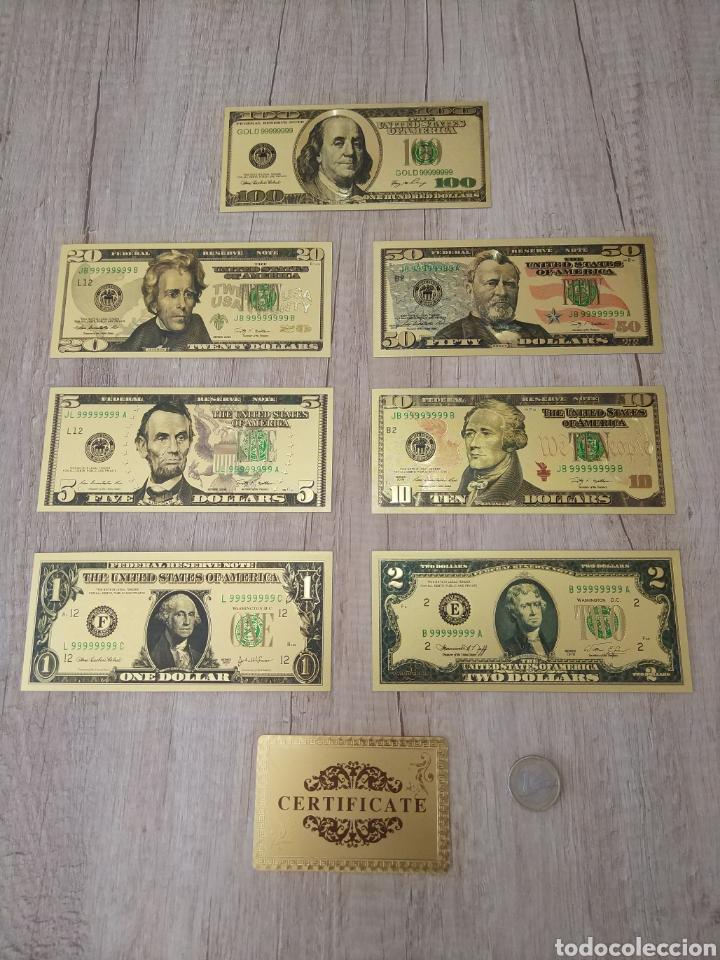 Lotes de Billetes: Lote Colección DÓLARES en ORO puro 99,9% 24. con Certificado de Autenticidad - Foto 9 - 207195960