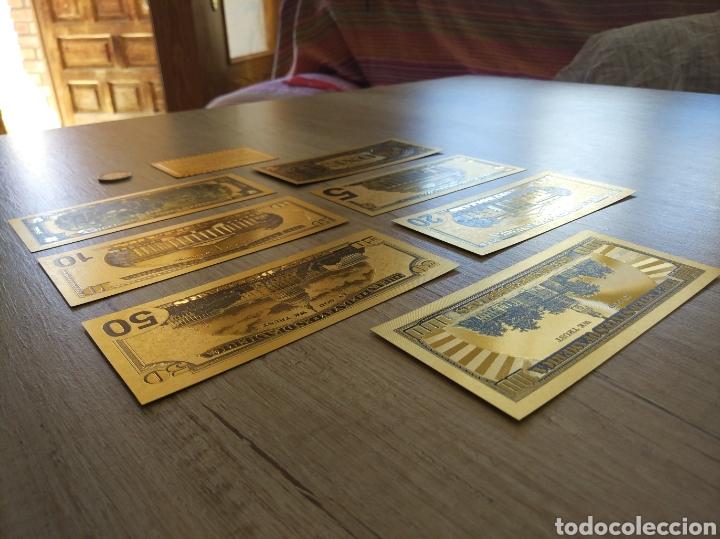 Lotes de Billetes: Lote Colección DÓLARES en ORO puro 99,9% 24. con Certificado de Autenticidad - Foto 11 - 207195960