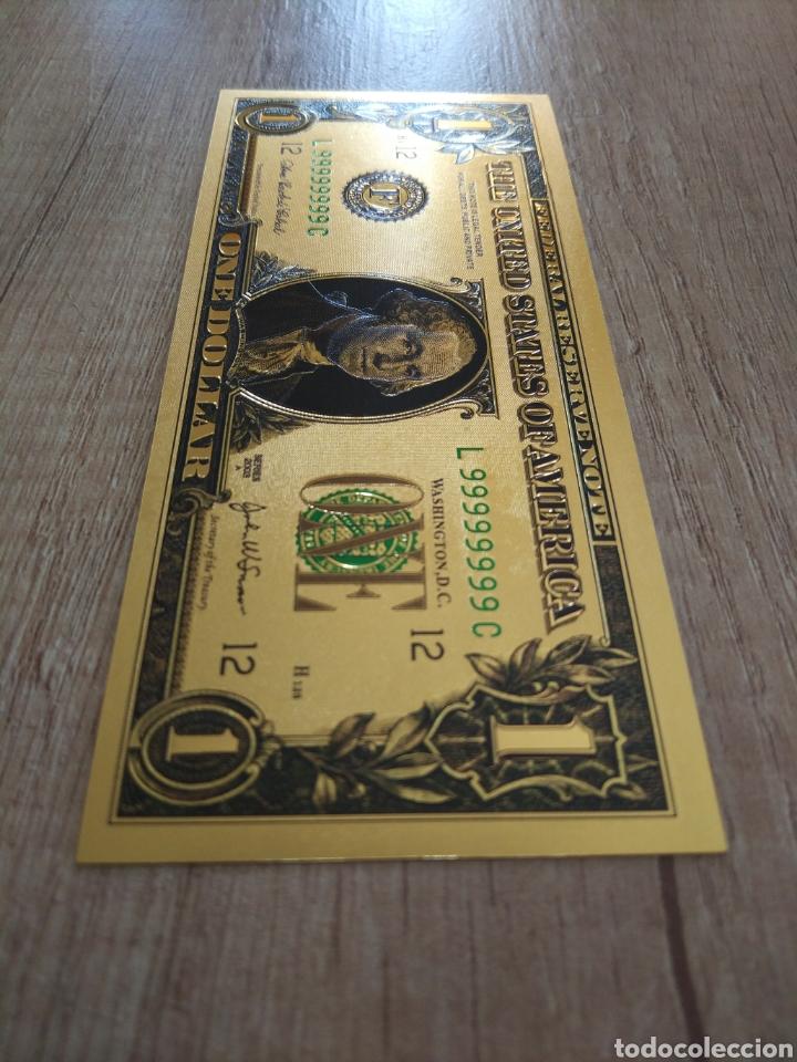 Lotes de Billetes: Lote Colección DÓLARES en ORO puro 99,9% 24. con Certificado de Autenticidad - Foto 15 - 207195960