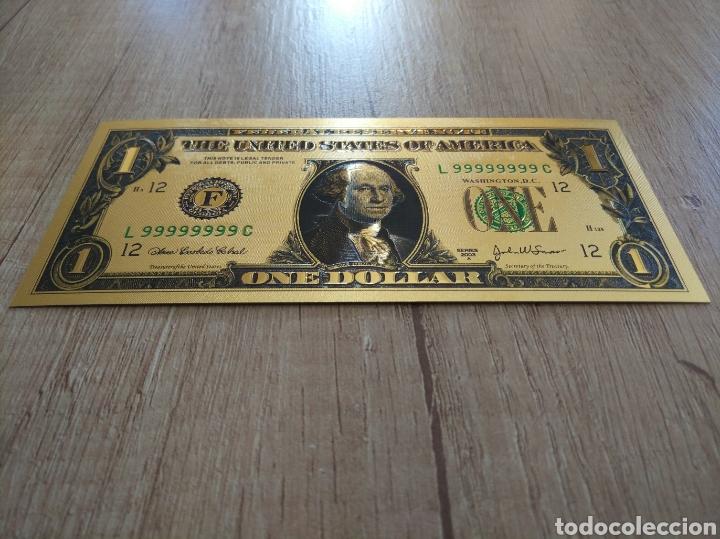 Lotes de Billetes: Lote Colección DÓLARES en ORO puro 99,9% 24. con Certificado de Autenticidad - Foto 16 - 207195960
