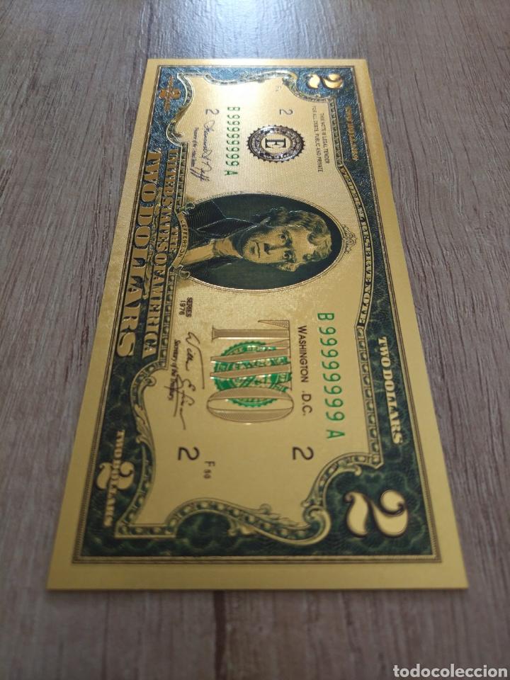 Lotes de Billetes: Lote Colección DÓLARES en ORO puro 99,9% 24. con Certificado de Autenticidad - Foto 19 - 207195960