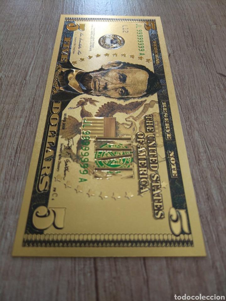 Lotes de Billetes: Lote Colección DÓLARES en ORO puro 99,9% 24. con Certificado de Autenticidad - Foto 23 - 207195960
