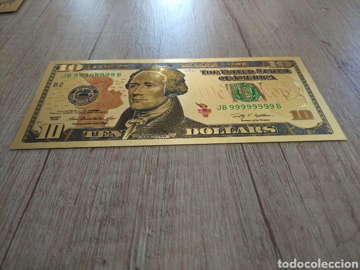 Lotes de Billetes: Lote Colección DÓLARES en ORO puro 99,9% 24. con Certificado de Autenticidad - Foto 28 - 207195960