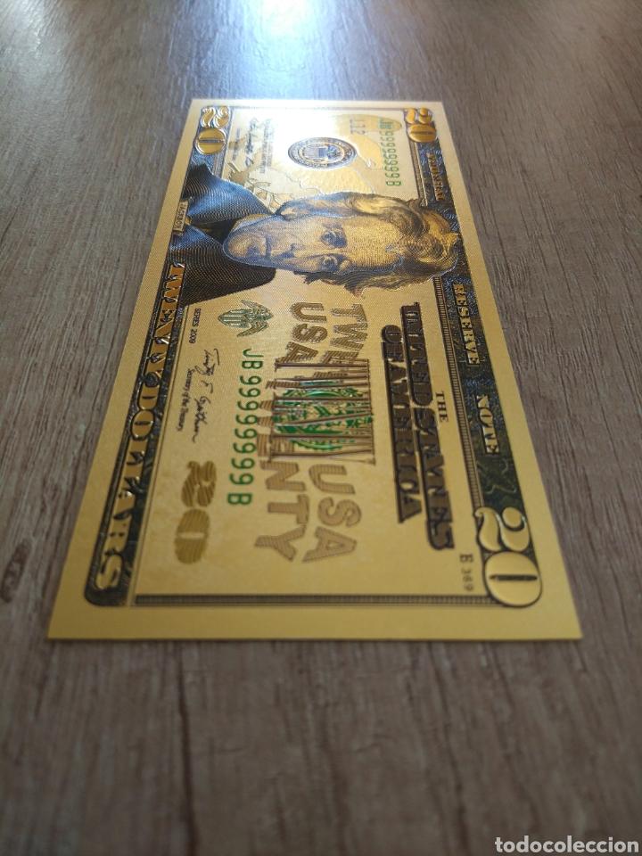 Lotes de Billetes: Lote Colección DÓLARES en ORO puro 99,9% 24. con Certificado de Autenticidad - Foto 31 - 207195960