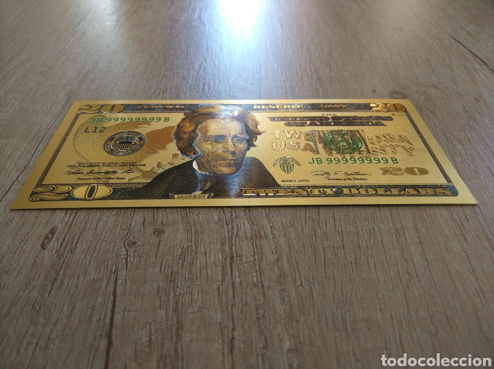 Lotes de Billetes: Lote Colección DÓLARES en ORO puro 99,9% 24. con Certificado de Autenticidad - Foto 32 - 207195960