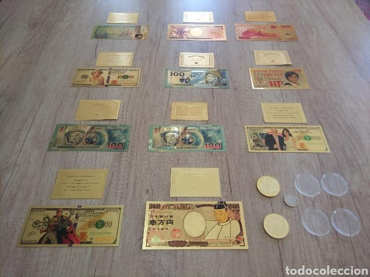 Lotes de Billetes: Lote Colección BILLETES en ORO puro 99,9% 24. con Certificado de Autenticidad - Foto 3 - 207203468
