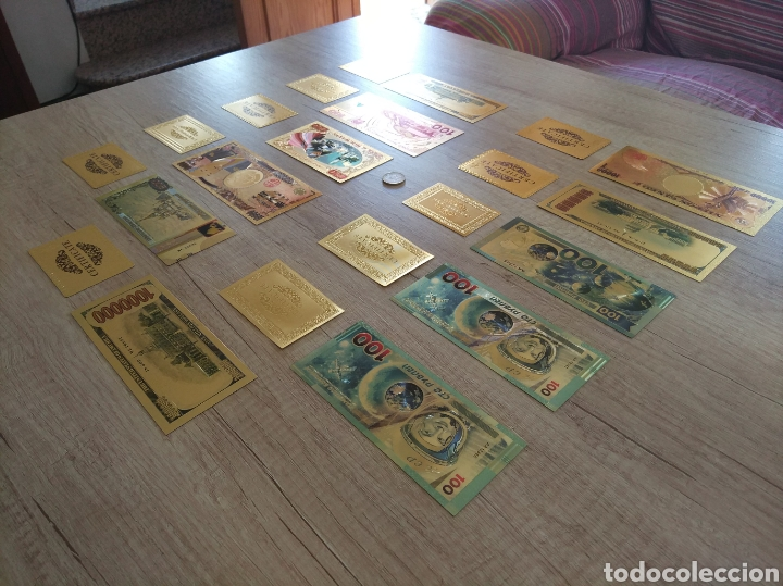 Lotes de Billetes: Lote Colección BILLETES en ORO puro 99,9% 24. con Certificado de Autenticidad - Foto 4 - 207203468