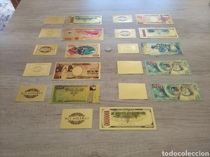 Lotes de Billetes: Lote Colección BILLETES en ORO puro 99,9% 24. con Certificado de Autenticidad - Foto 5 - 207203468