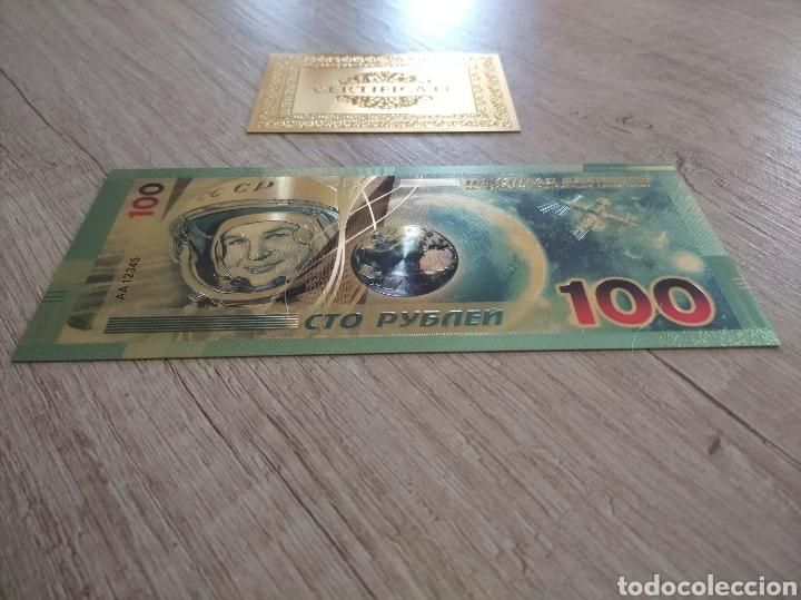 Lotes de Billetes: Lote Colección BILLETES en ORO puro 99,9% 24. con Certificado de Autenticidad - Foto 7 - 207203468