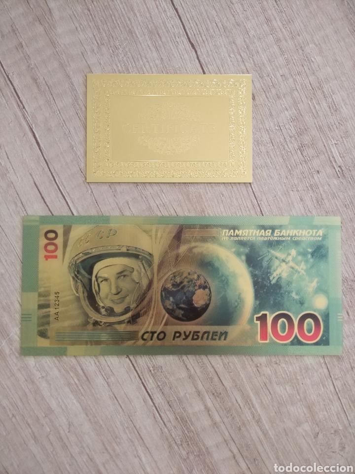 Lotes de Billetes: Lote Colección BILLETES en ORO puro 99,9% 24. con Certificado de Autenticidad - Foto 9 - 207203468