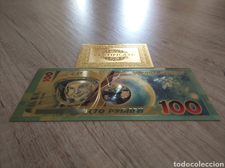 Lotes de Billetes: Lote Colección BILLETES en ORO puro 99,9% 24. con Certificado de Autenticidad - Foto 11 - 207203468