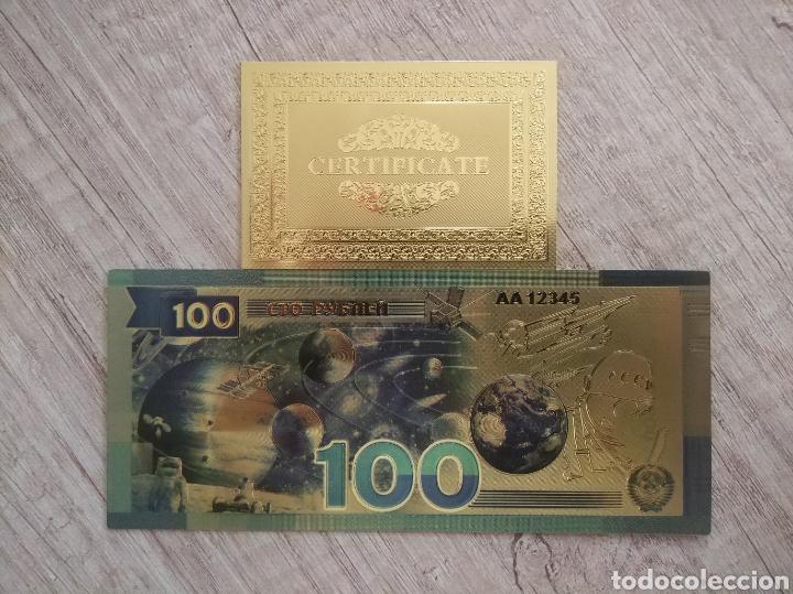 Lotes de Billetes: Lote Colección BILLETES en ORO puro 99,9% 24. con Certificado de Autenticidad - Foto 16 - 207203468