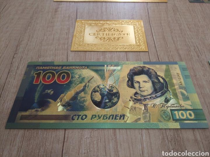 Lotes de Billetes: Lote Colección BILLETES en ORO puro 99,9% 24. con Certificado de Autenticidad - Foto 21 - 207203468