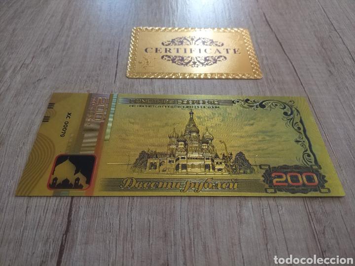 Lotes de Billetes: Lote Colección BILLETES en ORO puro 99,9% 24. con Certificado de Autenticidad - Foto 27 - 207203468