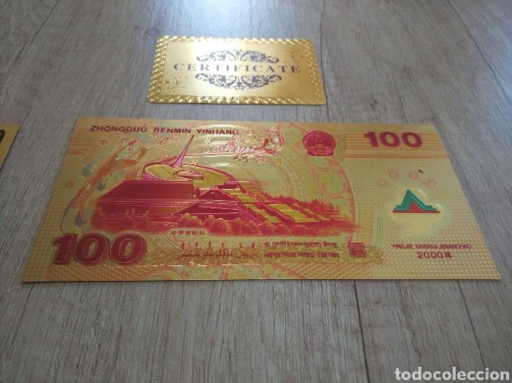 Lotes de Billetes: Lote Colección BILLETES en ORO puro 99,9% 24. con Certificado de Autenticidad - Foto 29 - 207203468