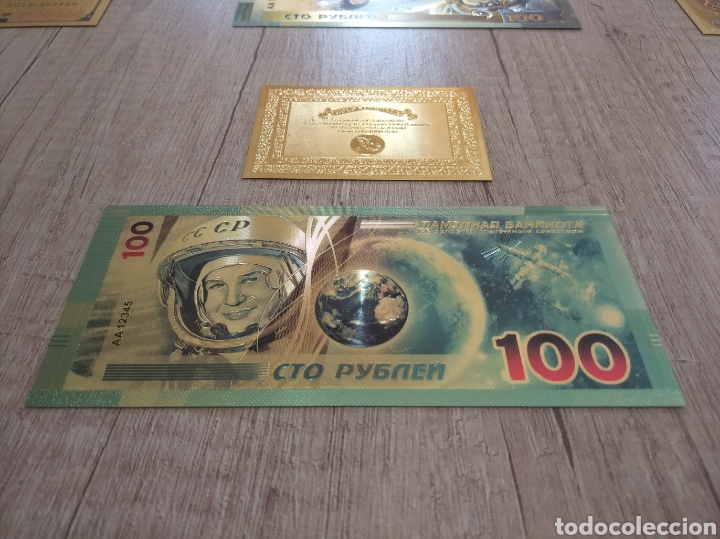 Lotes de Billetes: Lote Colección BILLETES en ORO puro 99,9% 24. con Certificado de Autenticidad - Foto 32 - 207203468