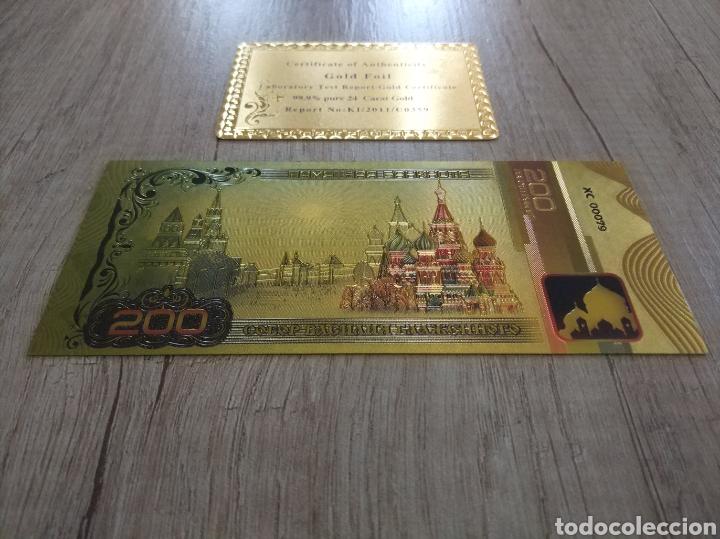 Lotes de Billetes: Lote Colección BILLETES en ORO puro 99,9% 24. con Certificado de Autenticidad - Foto 37 - 207203468