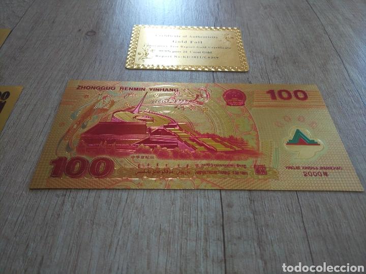 Lotes de Billetes: Lote Colección BILLETES en ORO puro 99,9% 24. con Certificado de Autenticidad - Foto 39 - 207203468