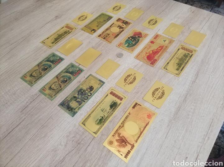 Lotes de Billetes: Lote Colección BILLETES en ORO puro 99,9% 24. con Certificado de Autenticidad - Foto 50 - 207203468