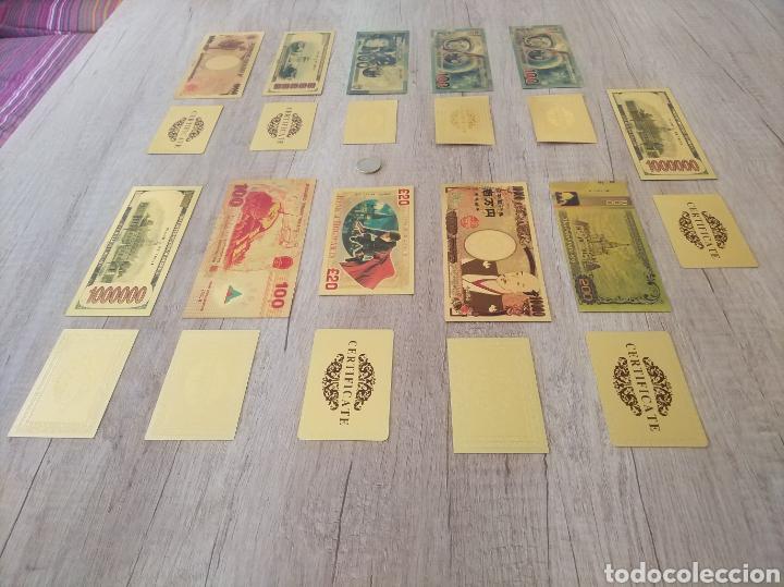 Lotes de Billetes: Lote Colección BILLETES en ORO puro 99,9% 24. con Certificado de Autenticidad - Foto 51 - 207203468