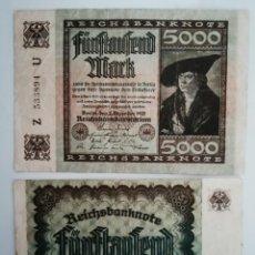 Lotes de Billetes: 5000 MARCOS. Lote 208420073